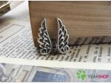 Silver Color Pendants - Wing - 9mmx24mm - 30 PCS (JP20)