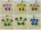 9mm Safety Cat Eyes Plastic Doll Eyes (CE) - Clear / Pink / Yellow / Golden / Grass Green / Green / Blue - 10 Pairs