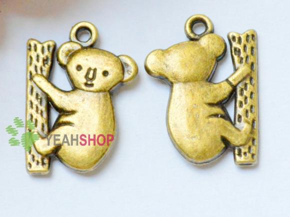 Antique Brass Pendants - Little Bear - 20mmx14mm - 20 PCS (JP121)