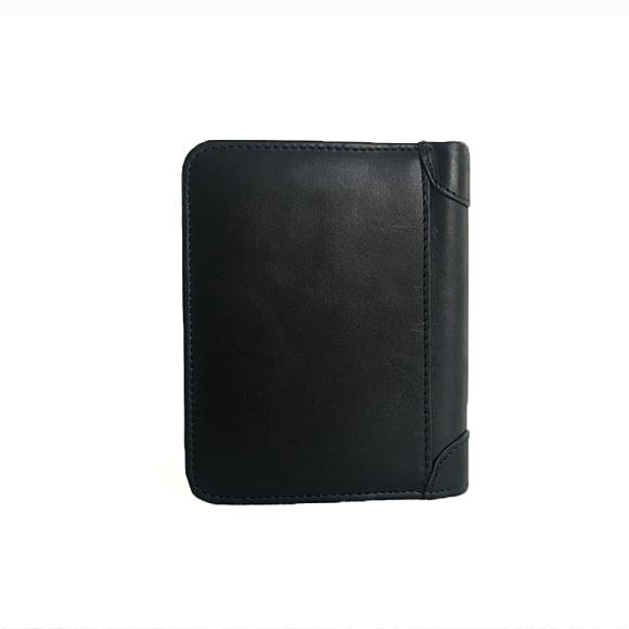 Men's Leather Wallet Leather Casual Simplicity Black Manual Vertical Card Wallet
