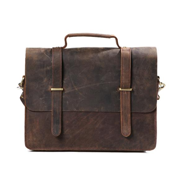Original Vintage Crazy Horse Leather Single Diagonal Shoulder Bag Simple Leather Men's Messenger Bag