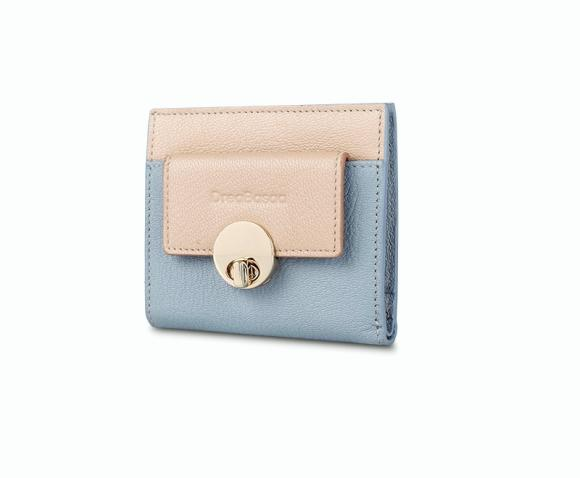 Short Leather Simple Small Wallet Thin Sheepskin Wallet