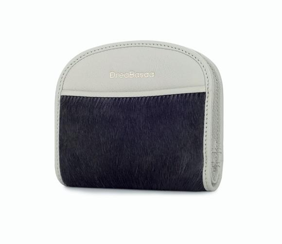 Short Thin Leather Wallet Brief Pony Hair Mini Wallet