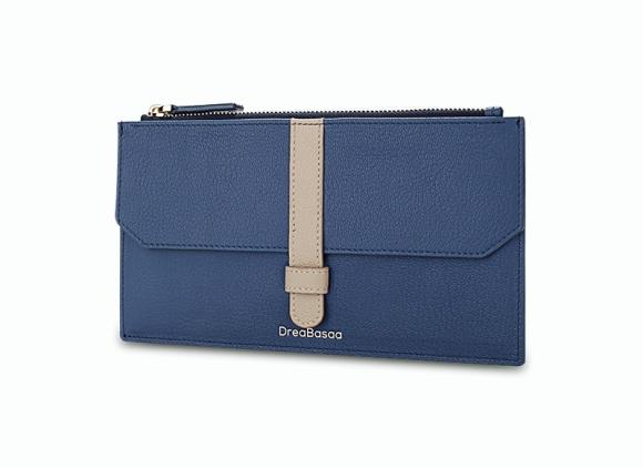 Long Thin Leather Zipper Wallet Simple Multifunctional Hand Bag