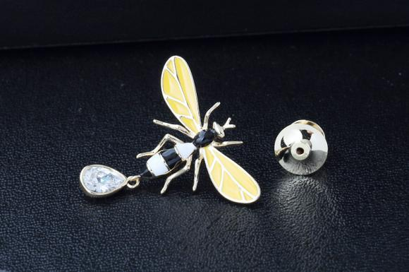Women's Flying Bee Brooch Pin Suits Dress Collar Hat Brooch Pin (YBOP195)
