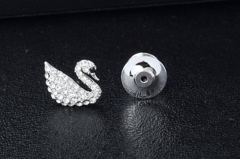 Women's Swan Brooch Pin Suits Dress Collar Hat Brooch Pin (YBOP192)