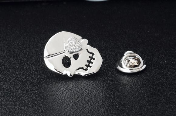 Women's Skull Brooch Pin Suits Dress Collar Hat Brooch Pin (YBOP181)