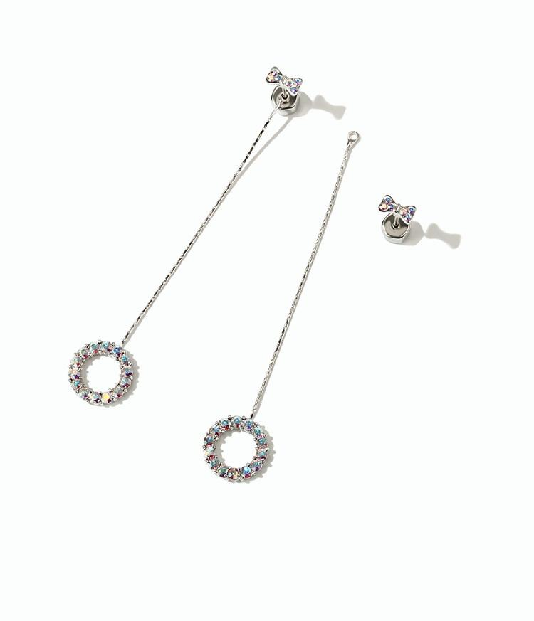 Alloy Earrings for Gril - Bow & Ring (JSE1)