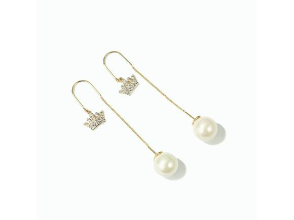 Alloy Long Earrings for Grils - Crown / Bow / Flower (JSE4)