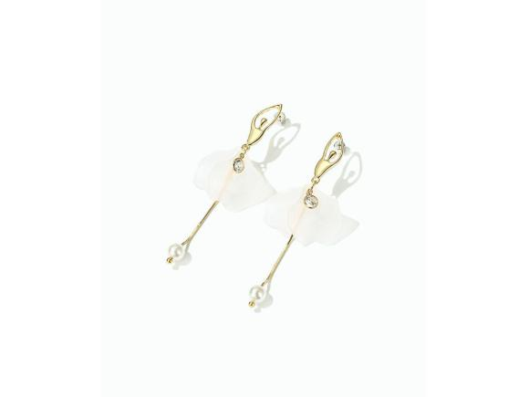 Alloy Long Personality Earrings for Gril - Ballet Girl (JSE12)