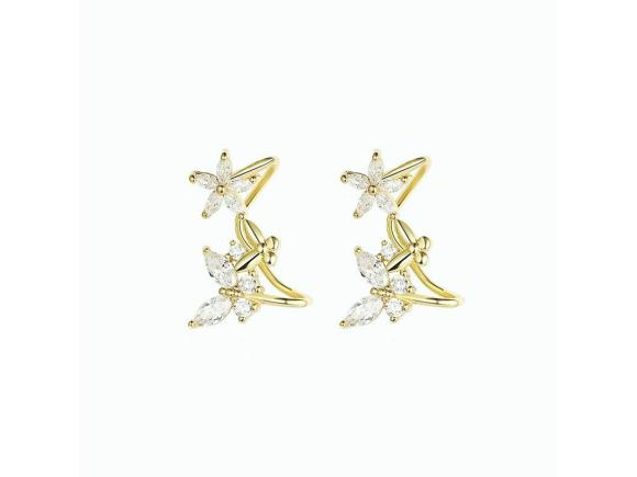 Simple Flower Butterfly Stud Earrings for Gril  (JSE14)