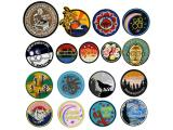 10 pcs of Wholesale Iron on Fabric Patch for Clothing / Bulk Embroidered Sew on Applique Cute Patch Fabric Badge Garment DIY Apparel Accessories - Round abstract painting embroidery (WFB-21)