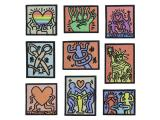 10 pcs of Wholesale Iron on Fabric Patch for Clothing / Bulk Embroidered Sew on Applique Cute Patch Fabric Badge Garment DIY Apparel Accessories - Abstract painting (WFB-27)