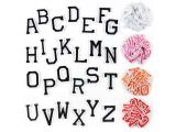 26 pcs of Wholesale Iron on Fabric Patch for Clothing Hat / Embroidered Sew on Applique Cute Patch Fabric Badge Garment DIY Apparel Accessories - Solid color English letters (WFB-32)
