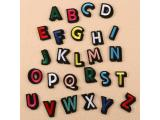 26 pcs of Wholesale Iron on Fabric Patch for Clothing Hat / Embroidered Sew on Applique Cute Patch Fabric Badge Garment DIY Apparel Accessories - Multicolor English letters (WFB-33)