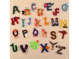 26 pcs of Wholesale Iron on Fabric Patch for Clothing Hat / Embroidered Sew on Applique Cute Patch Fabric Badge Garment DIY Apparel Accessories - Cute animal english alphabet (WFB-34)