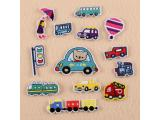 30 pcs of Wholesale Iron on Fabric Patch for Clothing Hat / Embroidered Sew on Applique Cute Patch Fabric Badge Garment DIY Apparel Accessories - Traffic light car (WFB-62)