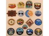 10 pcs of Wholesale Iron on Fabric Patch for Clothing Hat / Embroidered Sew on Applique Cute Patch Fabric Badge Garment DIY Apparel Accessories - Round painting (WFB-67)