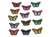 20 pcs of Wholesale Iron on Fabric Patch for Clothing Hat / Embroidered Sew on Applique Cute Patch Fabric Badge Garment DIY Apparel Accessories - Color butterfly (WFB-70)