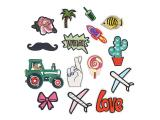20 pcs of Wholesale Iron on Fabric Patch for Clothing Hat / Embroidered Sew on Applique Cute Patch Fabric Badge Garment DIY Apparel Accessories - Aircraft rocket tractor (WFB-76)