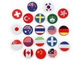 20 pcs of Wholesale Iron on Fabric Patch for Clothing Hat / Embroidered Sew on Applique Cute Patch Fabric Badge Garment DIY Apparel Accessories - Round flag (WFB-81)