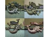 Antique Silver / Antique Brass / Antique Copper / Alloy Pendants - Mermaid - 32mmx75mm - 10 PCS (JP197)