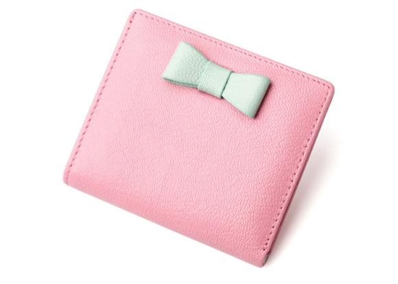 Genuine Leather Mini Wallet Female Card Holder Sheepskin Thin Wallet Money Bag