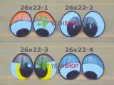 26mmx22mm Plastic Comic Eyes / Safety Eyes / Printed Eyes - 4 Styles