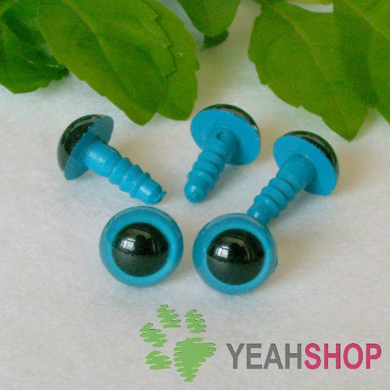 10mm Blue Safety Eyes / Plastic Eyes - 5 Pairs