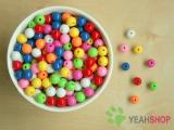 8mm Candy Color Plastic Round Beads - 100 Grams / 340 PCS