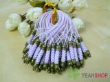 Purple Cell Phone Strap Lanyard with Antique Brass Metal - 10 pcs (PS3)