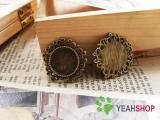 Antique Brass / Antique Silver Cabochon Frames - 14mm / 0.55 Inch - 20 PCS (JCF28)