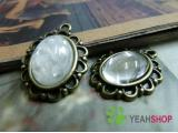 Antique Brass Oval Cabochon Frames - 10mmx14mm - 5 PCS (JCF99)
